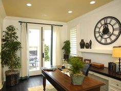 Transitional undefined from Hamilton Jones Interiors : Pro Galleries : HGTV Remodels  Pretty..bright workspace!