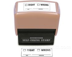 [Right / Wrong Self-Inking Stamper] #office #products $7.99
