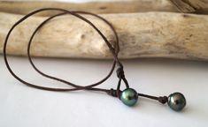 Perles de tahiti cuir australien collier femme collier