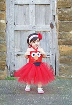 Elmo Tutu Dress Inspired-Infant. $35.00, via Etsy.
