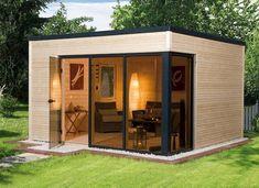 Incredible and cozy backyard studio shed design ideas Backyard Office, Cozy Backyard, Backyard Studio, Backyard Sheds, Garden Office, Outdoor Sheds, Backyard Cottage, Garden Studio, Garden Sheds