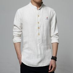 Now Available on our Store:High Quality Linen Shirt Men Fashion