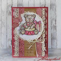 Vánoční+přání+medvídek+Práníčko+a6,+ručně+vyrobené+z+papíru.
