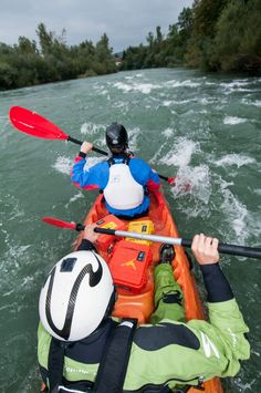 A bundle of 1200, 1300 and 1400 Cases gets wet on a rapid of Sava river near Ljubljana, Slovenia. Sit-on-tops are very safe but you should expect to get very wet if you head down the rapids. Cameras, first aid kit and other essentials should always be safely stored in a Peli Case.  Picture by Gregor Zadravec - Slovenia