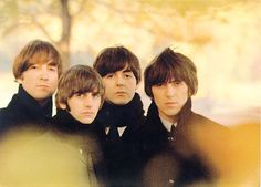 The Beatles were photographed by Robert Freeman in London's Hyde Park, in the autumn of 1964.