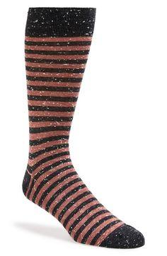 Men's Lorenzo Uomo Stripe Socks - Brown