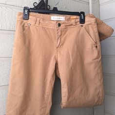 """Tan Pilcro pants Tan Pilcro and the letterpress pants  Size 27 inseam 28"""" pockets on back good condition, loved a few times but tons of life left 97% cotton 3% spandex just enough give to fit closely but still be comfortable Anthropologie Pants"""