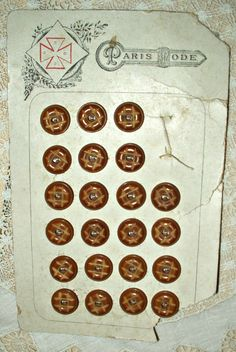 The Gatherings Antique Vintage - Victorian Edwardian Paris Mode Vegetable Ivory Buttons On Card, $20.00 (http://store.the-gatherings-antique-vintage.net/victorian-edwardian-paris-mode-vegetable-ivory-buttons-on-card/)