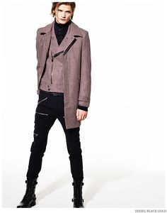 Diesel Embraces Leather & Studs for Pre Fall 2015 Collection image Diesel Black Gold Men Pre Fall 2015 Collection Look Book 008