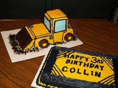 bulldozer cake @Lisa Wilson Maybe we could do something like this for Ry?