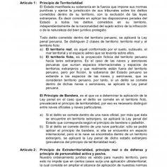 Código Penal Peruano Título I de la Ley Penal Artículo 1 : Principio de Territorialidad El Estado manifiesta su soberanía en la fuerza que impone sus normas. http://slidehot.com/resources/codigo-penal-peruano.13453/