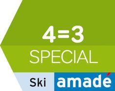 Mit dem 4=3 Skiamade Kurzurlaub sparen sind ein Urlaubstag inkl. Skipass gratis, gültig bei Sonntagsanreisen im März 2017. Mach Urlaub in Gastein Bergen, Skiing, Company Logo, Logos, Ski Trips, Ski, Logo