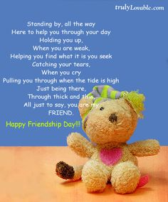 To all my friends u know who u r! Not just on friendship day but everyday! Friendship Day Cards, Friends Forever, Best Friends, Word Pictures, All The Way, Your Smile, Picture Quotes, Favorite Quotes, My Friend