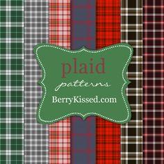 Plaid pattern pack - NEW by BerryKissed.deviantart.com on @DeviantArt