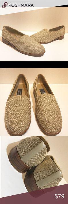 stuart weitzman Womens woven beige flats Size 6.5 stuart weitzman women's quilted woven beige knot flats Size 6.5 Made in Spain Stuart Weitzman Shoes Flats & Loafers
