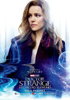 El Puffs. #DrStrange  Hechicero supremo posters promocionales de los personajes. #RachelMcAdams #Marvel