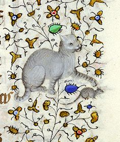 Cat chasing Mouse (@MorganLibrary, MS M. 1004, 15th c.) #MedievalCats