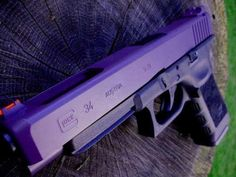 OMG I want this so bad! Big Guns, Cool Guns, Glock Girl, Love Gun, Fire Powers, Shades Of Purple, Hand Guns, Prepping, Survival