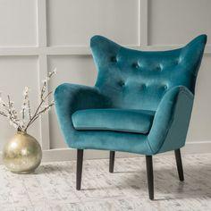 Home Loft Concepts Allesandro Arm Chair Color: Dark Teal