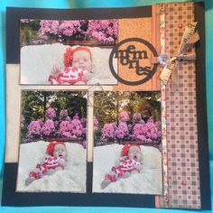 3 picture scrapbook layout Picture Scrapbook, 3 Picture, Ladder Decor, Layout, Frame, Home Decor, Homemade Home Decor, Page Layout, A Frame
