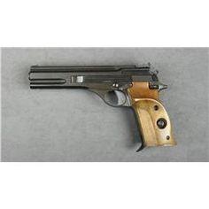 """Beretta Model 76 semi-auto target pistol, .22LR cal., 6"""" barrel, black finish with non-reflective"""