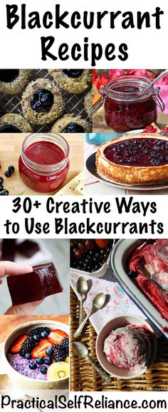 Blackcurrant Recipes ~ 30 Creative Ways to Use Blackcurrants Healthy Dessert Recipes, Detox Recipes, Real Food Recipes, Delicious Desserts, Cooking Recipes, Cooking A Roast, Low Calorie Snacks, Recipe 30, Edible Food