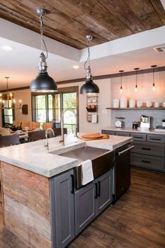 Kitchen sinks are an integral component of good kitchen layout from a sensible and layout standpoint. Locate ideas from Small Kitchen Sink Decor Ideas and Remodel. Kitchen Sink Decor, Small Kitchen Sink, Farmhouse Kitchen Cabinets, Rustic Kitchen Decor, Modern Farmhouse Kitchens, Kitchen On A Budget, Kitchen Ideas, Rustic Decor, Rustic Style