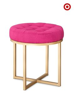 Fresh Hot Pink Vanity Stool