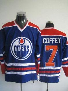 Edmonton Oilers 7 Paul Coffey blue jersey