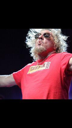 Pucker up Van Halen 5150, Van Hagar, Red Rocker, Sammy Hagar, Rock And Roll, Bands, Chicken, My Favorite Things, Awesome
