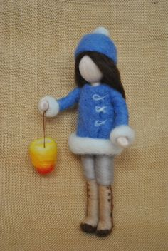Items similar to Girl with boots Waldorf inspired needle felted doll: The Lantern Walk. Made to order. on Etsy Girl with boots Waldorf inspired needle felted doll: The Needle Felted, Nuno Felting, Felt Crafts Patterns, Doll Patterns, Felt Angel, Embroidery Hearts, Needle Felting Tutorials, Felt Fairy, Dollhouse Dolls