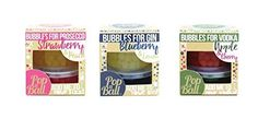 3 Packs of PopaBall Bubbles for - Gin - Prosecco & Vodka