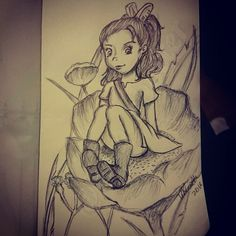 May 30th: Arietty. Just rough not completely happy with it but it will do #arietty #ariettytheborrower #theborrowers #theborrower #borrower #tiny #small #anime #manga #studioghibli #movie #animeart #mangaart #fanart #animefanart #hayaomiyazaki #pen#penart #biro #biroart #blackandwhite #sketch #myart #mystyle by kim_shotter