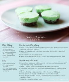 Coconut and Peppermint Cream Raw Treat Recipe! I'm totally making these soon!! #lornajane #myactiveyear