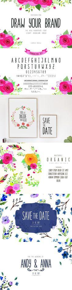 HURRY!! Draw Your Brand Handmade. Sans Serif Fonts
