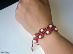 #Bronze #bracelet  #braceletwithbeads  #braided by TidalFantasy