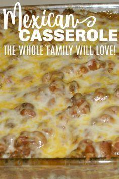 Easy Hamburger Casserole, Easy Mexican Casserole, Beef Casserole Recipes, Hamburger Ideas, Hamburger Dishes, Easy Hamburger Meat Recipes, Crockpot Recipes, Chicken Casserole, Easy Dinner Casserole