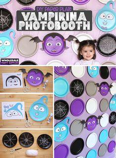 Vampirina Photo Backdrop – Paper Plates and Templates