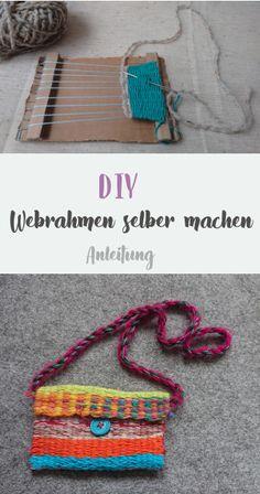 Make the loom yourself - Make the loom yourself - Paper Weaving, Weaving Art, Weaving Patterns, Loom Weaving, Crochet Patterns, Weaving For Kids, Weaving Wall Hanging, Craft Free, Weaving Projects