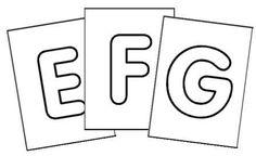 Lettres de l'alphabet : affichage ou fabrication de cartes à jouer