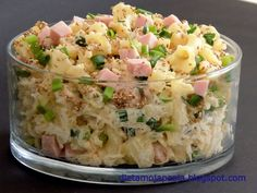 Szybka sałatka z makaronem Kraut, Pasta Salad, Quinoa, Potato Salad, Menu, Potatoes, Ethnic Recipes, Food, Kitchen