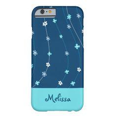 Blue Floral Ornament Phone Case