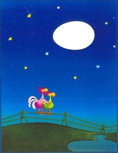 Irancartoon Web Gallery :: The Exhibition of Cartoon / Mordillo / Argentina :: Moon Cartoon, Cartoon Gifs, Illustration Mignonne, Cute Illustration, Es Der Clown, Satirical Illustrations, Sweet Night, Chicken Art, Humor Grafico