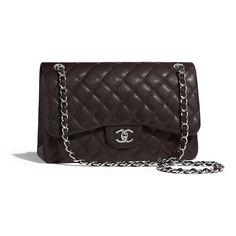 4506ec809406 Chanel - PRE FW2018/19   Grained calfskin & silver-tone metal brown