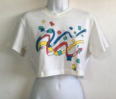 NIKE Shirt 80's Vintage/ Crop Top Belly Shirt by sweetVTGtshirt