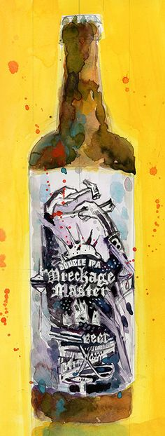 Solemn Oath Wreckage Master Beer Print from Original by dfrdesign
