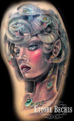 Ettore Bechis Medusa tattoo