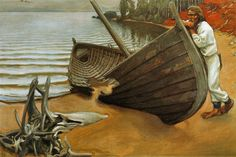 Akseli Gallen-Kallela >> The boat lamentation  |  (Oil, artwork, reproduction, copy, painting).