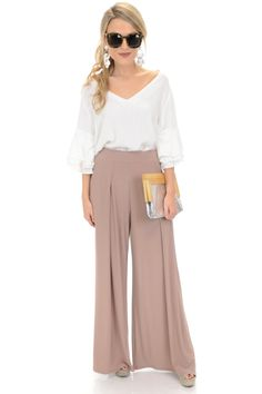 Pleat and Flow Pants :: NEW ARRIVALS :: The Blue Door Boutique