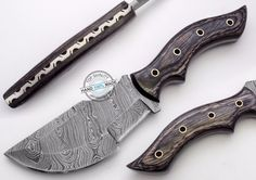 "10.00"" Custom Made Beautiful Damascus Steel tracker Knife (917-3) #UltimateWarrior"